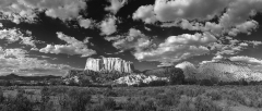 New Mexico Butte B&W
