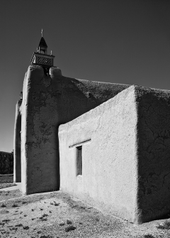 Las Trampas Old Church B&W