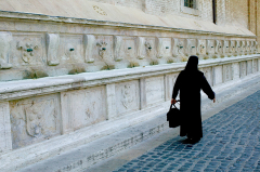 Nun Walking