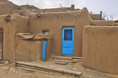 Taos Pueblo Blue Door