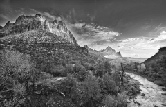 Zion Sunset B&W